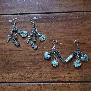 2 pairs of handmade earrings